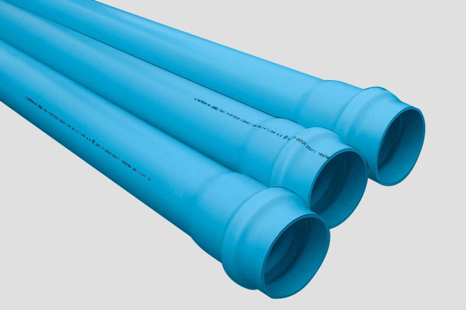 Blue upvc pipe tvt